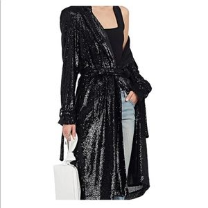 Alc Holloway sequin black trench